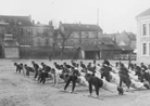 Class of 1917 recruits in training at Reuil. They wear the fatigue uniform of a zouave unit.
