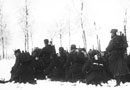 A section carries out assault exercises in the snow, late 1914.