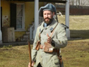 Sgt. Contamine drills the men, Fort Mifflin, March 2014