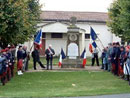 The Poilus de la Marne, Remeberance Day ceremony at the Memorial to the Dead, in Villeroy, France (Marne), November 11, 2004.