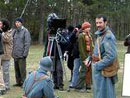 The Poilu de la Marne on the film set for