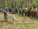 Sgt. Contamine leading the French company in advanced training exercises, April 2012.
