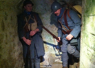 Sdt. Cardet and Sdt. Rouland in a subterranean passage at Fort Mifflin, March 2013.
