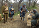 Soldiers receiving pay. Newville,  April 2013.