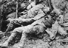 These men occupied a position literally crushed by German shell-fire.