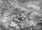 German remains lie amongst the debris at Verdun.